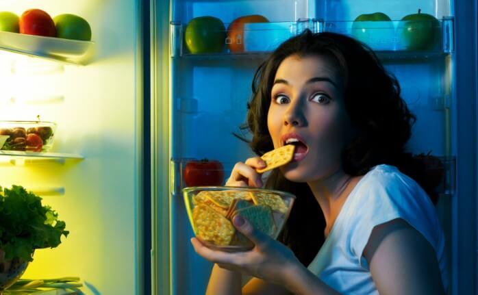 mangiare durante la notte